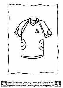 soccer jersey coloring page coloring home