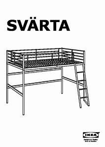 Sv U00c4rta Structure Lit Mezzanine Couleur Argent  Ikea France