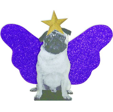 pug christmas tree topper by spotted notonthehighstreet com
