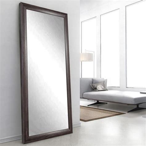 floor mirror 48 x 60 oyster grain cream tall framed mirror bm008ts the home depot