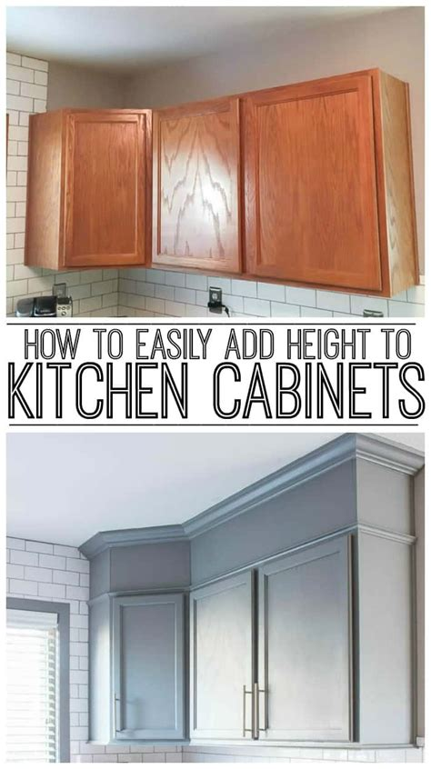 how to add moulding to kitchen cabinets how to easily add height to your kitchen cabinets 9284