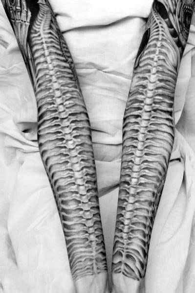 30 Snake Skeleton Tattoo Ideas For Men - Bone Designs