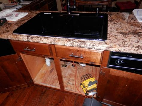 how to remove a cast iron kitchen sink how to remove cast iron kitchen sink on tile plumbing 9822