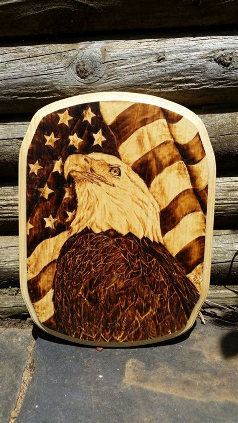 super cool eagle woodburning  merica httpswww