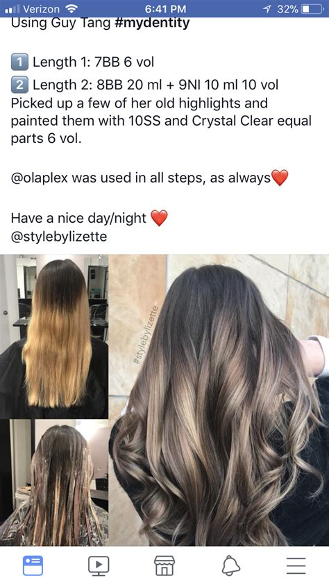pin  melissa scoran  ombre sombre bayalage root shadow