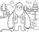 Coloring Everest Yeti Printable Yi sketch template