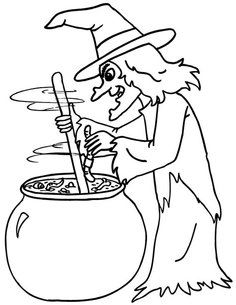 witch coloring pages  printables  kids