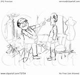 Tailor Outline Measuring Clip Illustration Royalty Rf Bannykh Alex Clipart sketch template