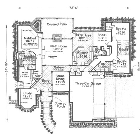 floor plans and more rio vista rustic ranch home plan 036d 0180 house plans and more