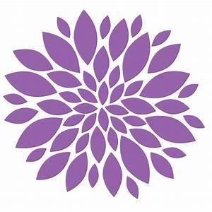 Purple Flower Clipart #94076