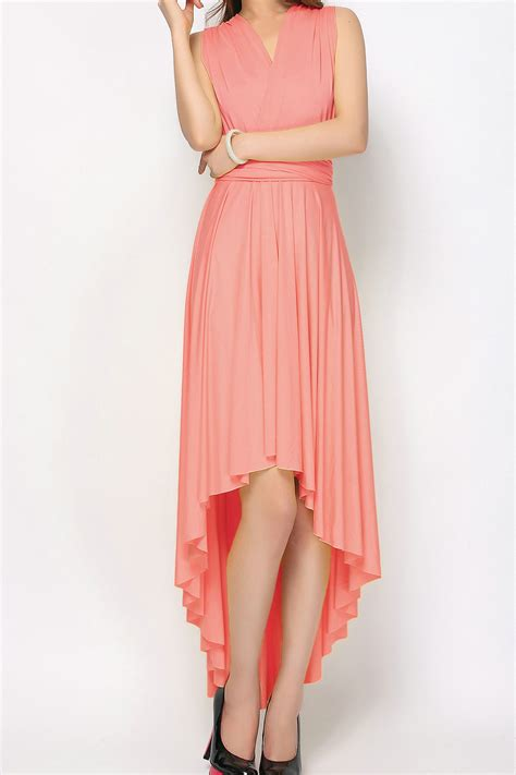 dress pink floral light coral high low infinity dresses bridesmaid dresses
