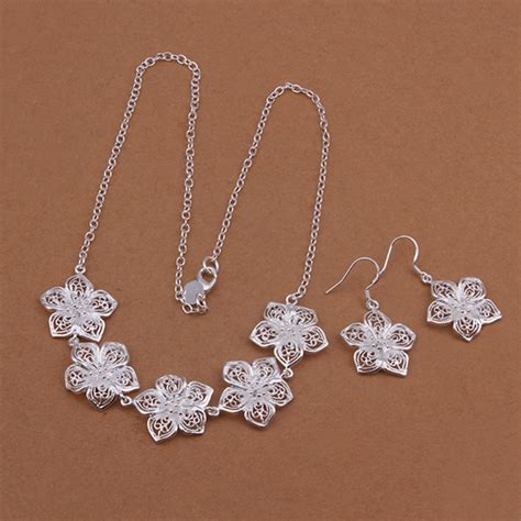 jewelry set  sterling necklace silver elegant hight