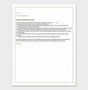 Letter Of Intent To Work Sample Accountant Reference Letter 12 Samples Examples