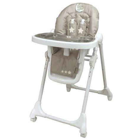 chaise haute bébé pas cher looping chaise haute télescopique lune câline taupe et