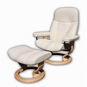 Stressless Consul L : stressless consul medium chair and stool batick cream and oak base ~ Frokenaadalensverden.com Haus und Dekorationen