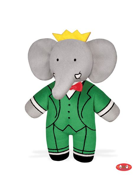 babar bean filled soft toy yottoy productions
