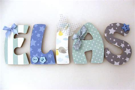 lettre prenom chambre bebe lettres en bois prénom enfant mes créations