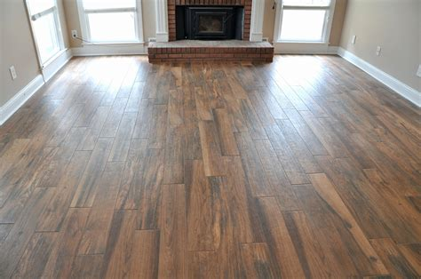 Wood Plank Kitchen Floor