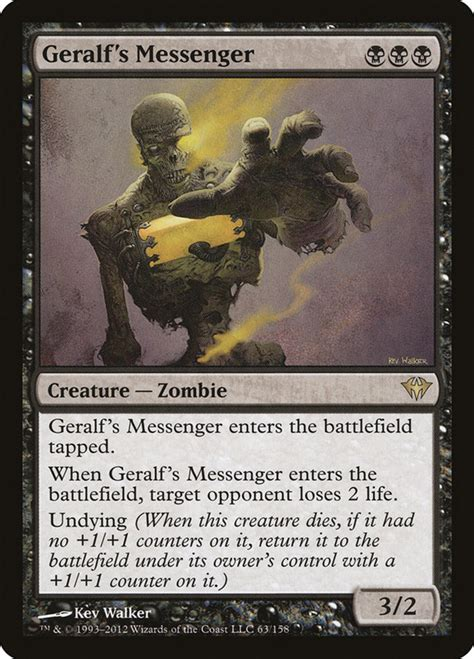 messenger geralf card zombies mtg cards magic gathering dark zombie health multiplayer opponent every turn ascension creature