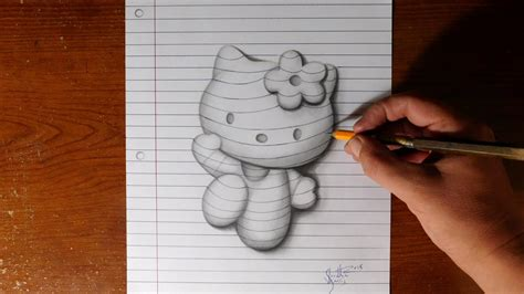 draw  kitty  paper trick art youtube