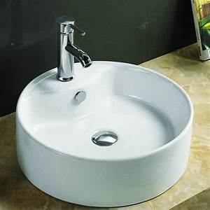 vasque ronde a poser o40 cmx16 cm ceramique blanc star With salle de bain design avec mini vasque a poser