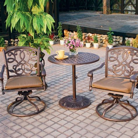 Inexpensive Patio Sets by Bistro Set Outdoor Brown Patio Lowe S Sets
