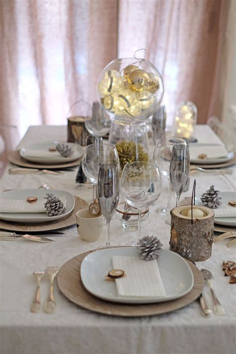 faire une table de noel chic  simple christmas table