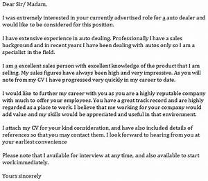 auto dealer cover letter example learnistorg With cover letter for car dealership