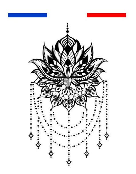 Fleur De Lotus Mandala Tatouage