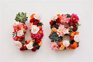 friday finds With fresh flower letters