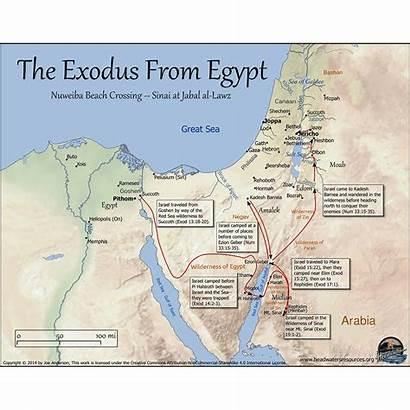 Bible Exodus Israel Land Sinai Egypt Map