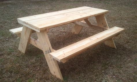 build   strong  picnic table
