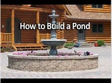How To Build an Raised Pond YouTube