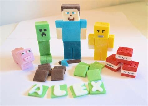 minecraft cake toppers edible birthday personalised