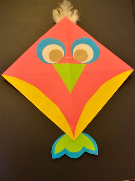 simple kite   paper  diy activity  kids