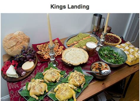 medieval show inspired meals game  thrones foods