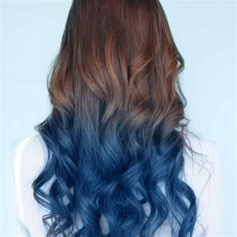 Ombre Hair To Brown by 50 Cool Blue Ombre Hair Styles Hair Motive Hair Motive