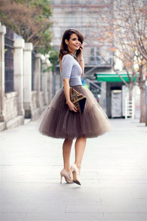 wear  tulle skirt  cute tulle skirt outfits