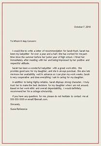 personal letter of recommendation reference letter1 With personal letter