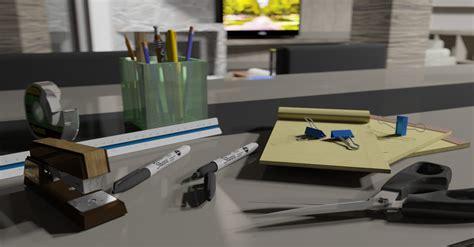 Office Supplies On Kitchen Table Softbytelabs