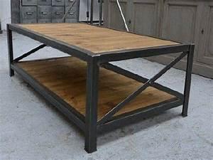 Meuble Bois Et Acier : meubles bois et acier meubles industriels meubles sur mesure ~ Teatrodelosmanantiales.com Idées de Décoration