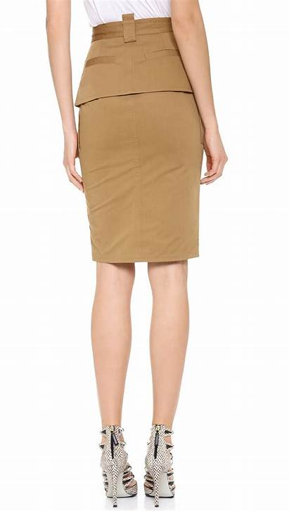 Skirt Pencil Utility Dsquared2 Khaki Shopbop Clothing