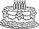 Cake Coloring Birthday Pages Printable Sheets Happy Getcoloringpages sketch template