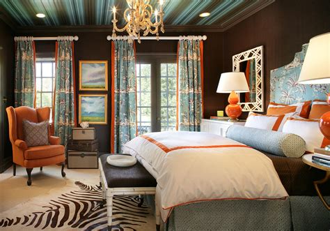 Bringing A Dark Room To Life With Pops Of Orange