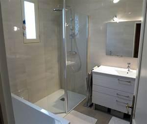 Rénovation salle de bain dans les tons chaleureux à Rennes, Pacé Bains et Solutions