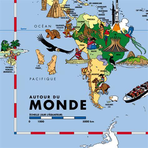 carte du monde enfant carte du monde grand format pour enfants carte murale plastifi 233 e
