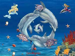 free animated dolphin wallpaper desktop - Video Search ...