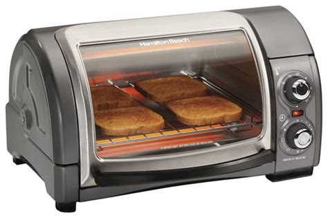 What Is The Best Toaster Oven To Purchase - best buy hamilton easy reach 4 slice toaster oven