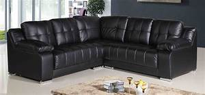 L Sofa : black leather l shaped sofa black leather sectional sofa with chaise l shaped thesofa ~ Buech-reservation.com Haus und Dekorationen