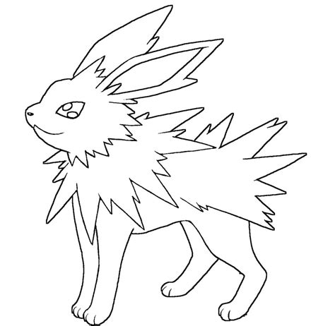 Jolteon Kleurplaat by Jolteon Coloring Pages Gallery Coloring For 2019